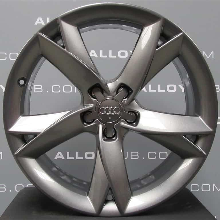 """Genuine Audi A5 8T Y Spoke Black Edition 19"""" Inch Alloy Wheels with Anthracite Grey Finish 8T0 601 025 F"""