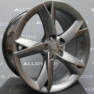 """Genuine Audi A5 8T Y Spoke Black Edition Anthracite 19"""" Inch Alloy Wheels with Anthracite Finish 8T0 601 025 F"""