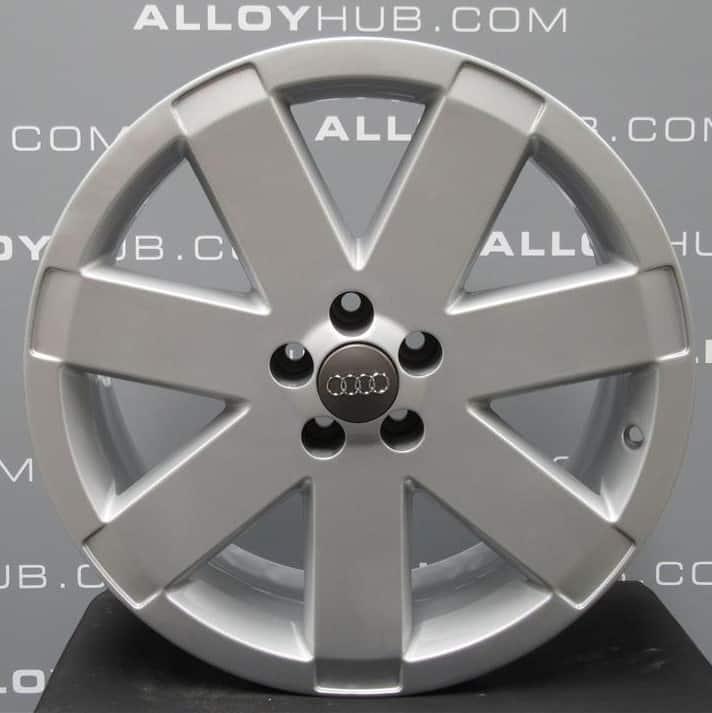 "Genuine Audi TT 8N MK1 3.2 V6 Ronal 7 Spoke 18"" Inch Alloy Wheels with Silver Finish 8N0 601 025 T"