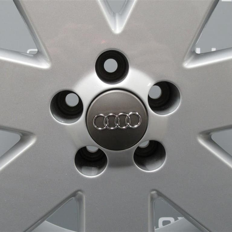 "Genuine Audi TT 8N MK1 3.2 V6 Ronal 7 Spoke 18"" Inch Alloy Wheels in Silver Finish 8N0 601 025 T"