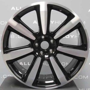 "Genuine Bentley Continental GT GTC Elegant 7 Spoke 21"" inch Alloy Wheels with Gloss Black & Diamond Turned Finish 3W0 601 025 CR"