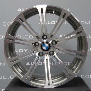 "Genuine BMW M3 E90 E91 E92 220M Sport 19"" Inch 10 Double Spoke Alloy Wheels with Grey & Diamond Turned Finish 36112283555 36112283556"