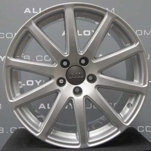 """Genuine Audi TT TTS MK2 8J 18"""" Inch S-line Speedline 10 Spoke Alloy Wheels with Silver Finish 8J0 601 025 AA"""