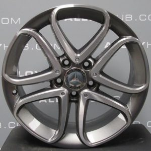 "Genuine Mercedes-Benz A/B Class W176 W246 5 Twin Spoke 17"" inch Alloy Wheels with Grey & Diamond Turned Finish A2464010302"