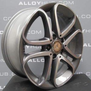 "Mercedes-Benz A/B Class W176 W246 5 Twin Spoke 17"" Grey & Polished Alloy Wheel"