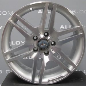 "Genuine Mercedes-Benz C Class W204 6 Split Spoke 17"" inch Alloy Wheels with Silver Finish A2044014502 A2044014602"