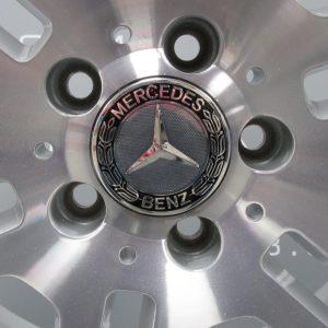 """MERCEDES C CLASS W204 6 Split Spoke 17"""" Silver Alloy Wheel"""