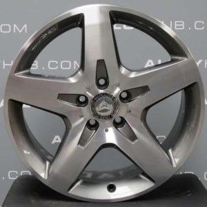 "Genuine Mercedes-Benz GLA X156 AMG 18"" inch 5 Spoke Alloy Wheels with Grey & Diamond Turned Finish A1564010500"