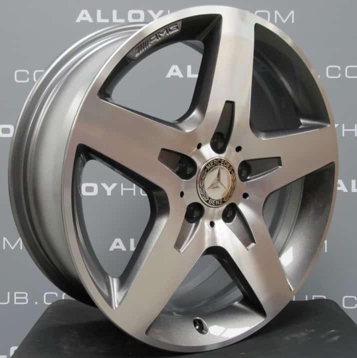 "MERCEDES-BENZ GLA X156 AMG 18"" 5 Spoke Grey/Polished Alloy Wheel"