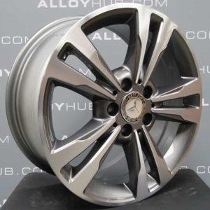 "MERCEDES-BENZ E CLASS 17"" 5 Twin Spoke Grey/Polished Alloy Wheel"