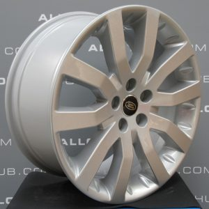 """Genuine Land Rover Range Rover Supercharged V Spoke 20"""" Inch Alloy Wheels with Sparkle Silver Finish LR008742"""