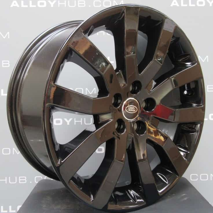 """Genuine Land Rover Range Rover Supercharged V Spoke 20"""" Inch Alloy Wheels with Gloss Black Finish LR008742"""