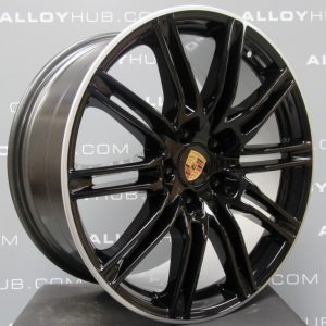 "Porsche Cayenne Turbo/S E2 GEN2 958 21"" Gloss Black Alloy Wheel"