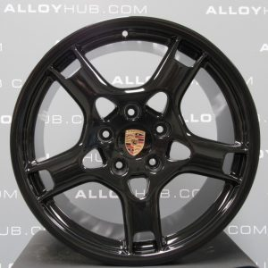 """Genuine Porsche 911 997 Carrera S C2/2S 19"""" Inch Lobster Claw Alloy Wheels with Gloss Black Finish 99736215600 99736216201"""