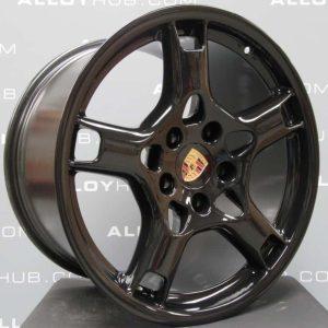 "Porsche 997 997 Carrera S C2/2S 19"" Lobster Claw Gloss Black Alloy Wheel"