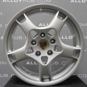 Genuine Porsche 911 997 Carrera 4/4S Lobster Claw Alloy Wheels with Silver Finish 99736215601 99736236200