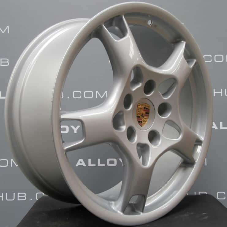Porsche 911 997 Carrera 4/4S Lobster Claw Silver Alloy Wheel