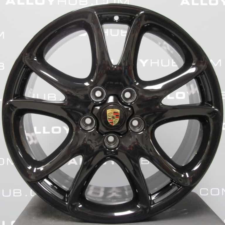 "Genuine Porsche Cayenne 955 957 Sport Design 20"" inch Alloy Wheels with Gloss Black Finish 715 601 025 N"