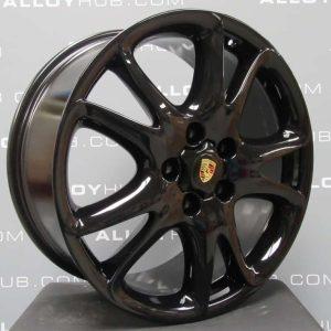"Porsche Cayenne Turbo Twist Spoke 20"" Gloss Black Alloy Wheel"