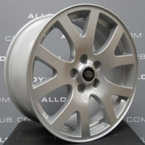 """Genuine Land Rover Range Rover Snowflake 19"""" Inch Alloy Wheels with Sparkle Silver Finish LR017276"""