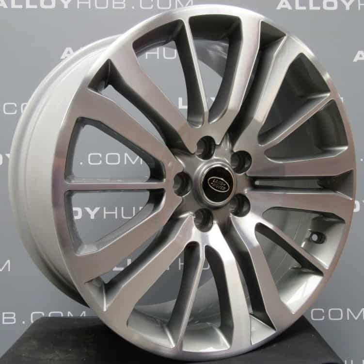 """Genuine Land Rover Range Rover HST Style 3 15 Spoke 20"""" Inch Alloy Wheels with Grey & Diamond Turned Finish LR008549"""