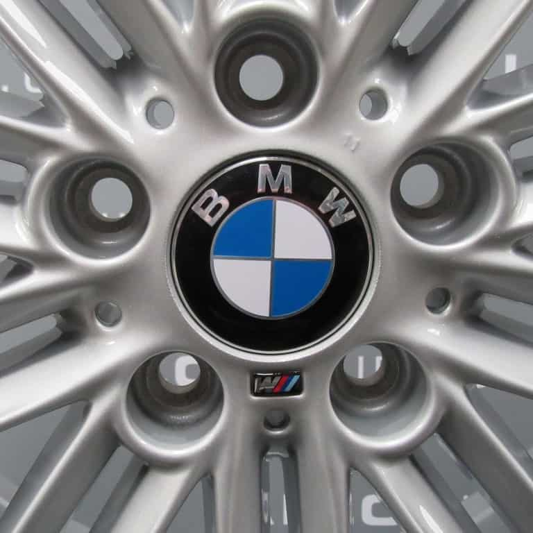 """Genuine BMW 1 Series 207M Sport 10 Double Spoke 17"""" Inch Alloy Wheels with Silver Finish 36118036937 36118036938"""