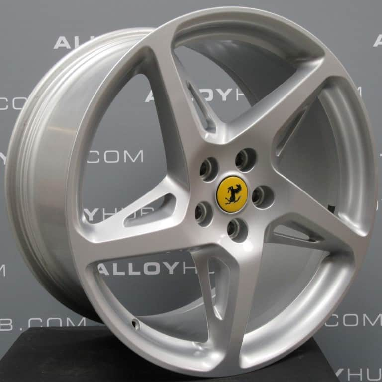 "Ferrari 458 Italia Spider 20""5 Cross Spoke 20""Silver Alloy Wheel"