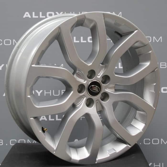 "Genuine Land Rover Range Rover L405 L494 22"" Style 5004 5 Split Spoke Sparkle Silver Alloy Wheels LR037747"