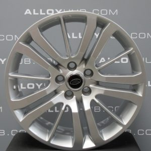"""Genuine Land Rover Range Rover HST Style 3 15 Spoke 20"""" Inch Alloy Wheels with Sparkle Silver Finish LR008549"""