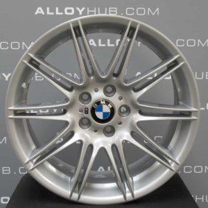 """Genuine BMW 3 Series E90 E91 E92 E93 Style MV4 225M Sport 10 Double Spoke 19"""" inch Alloy Wheels with Silver Finish 36118037141 36118037142"""