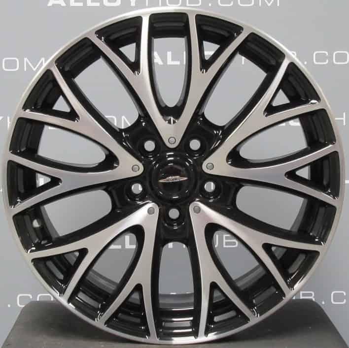 "Genuine Mini Countryman R60 JCW R134 Cross Spoke 19"" inch alloy wheels with Gloss Black & Diamond Turned Finish 36116854451"