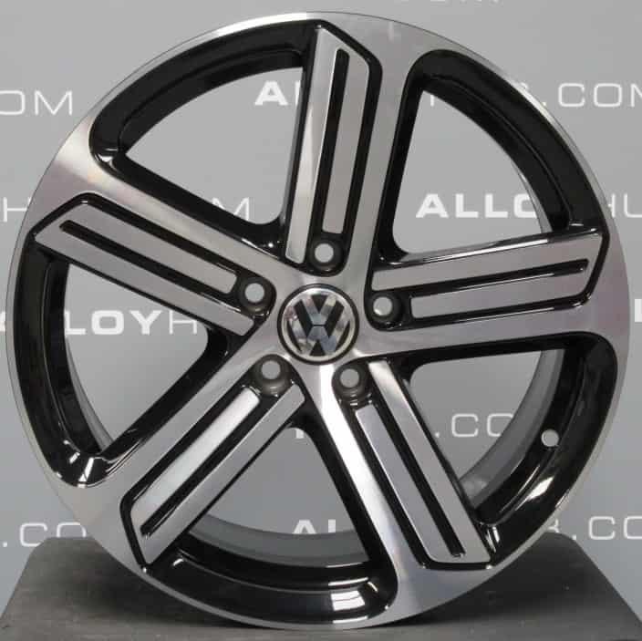 "Genuine Volkswagen Golf MK6 MK7 R Line Cadiz 18"" Inch Alloy Wheels with Black & Diamond Turned Finish 5G0 601 025 AG"