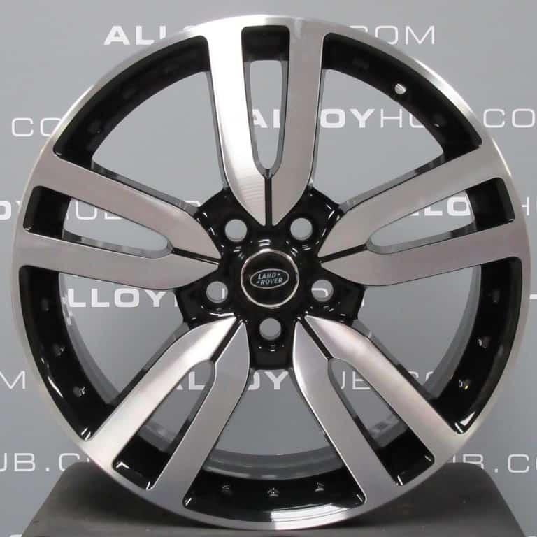 "Genuine Land Rover Discovery 4/3 Landmark HSE 20"" Inch 5 Split Spoke Style 510 Alloy Wheels with Diamond Turned & Gloss Black Finish VPLAW0002"