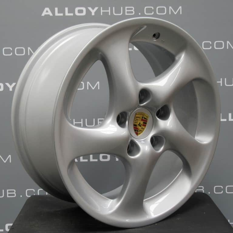 "Porsche 996 911 18"" Turbo 2 Hollow Spoke Silver Alloy Wheel"