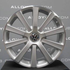 "Genuine Volkswagen VW Golf MK5 R32 Omanyt 10 Spoke 18"" inch Alloy Wheels with Silver & Diamond Turned Finish 1K0 601 025 BL"