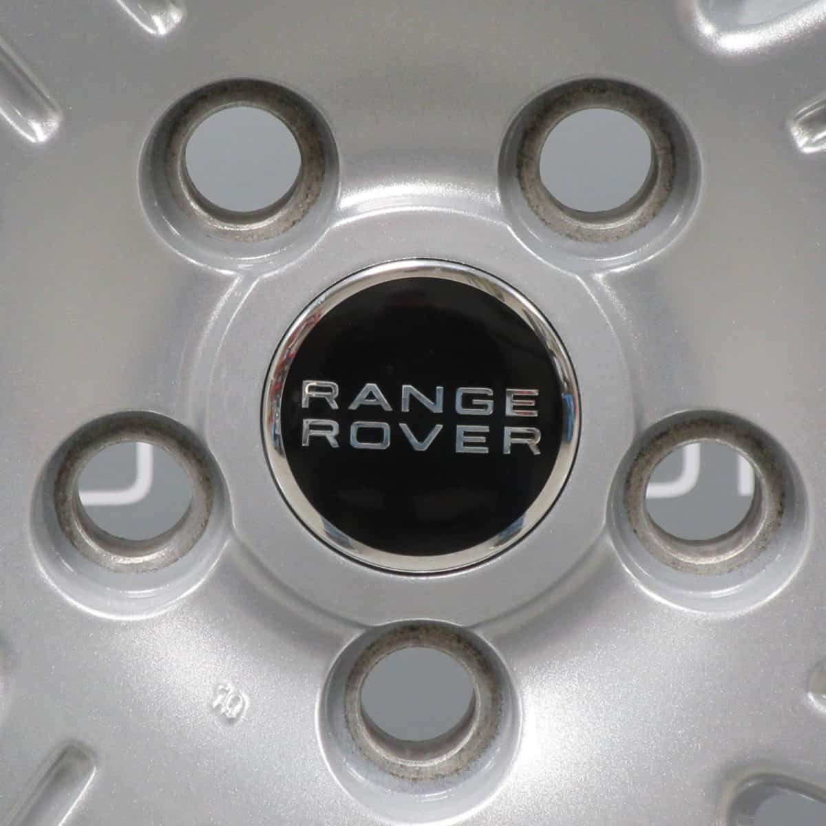 Genuine Land Rover Range Rover L322 7 Spoke 19″ Inch Alloy Wheels with Sparkle Silver Finish RRC502640XXX