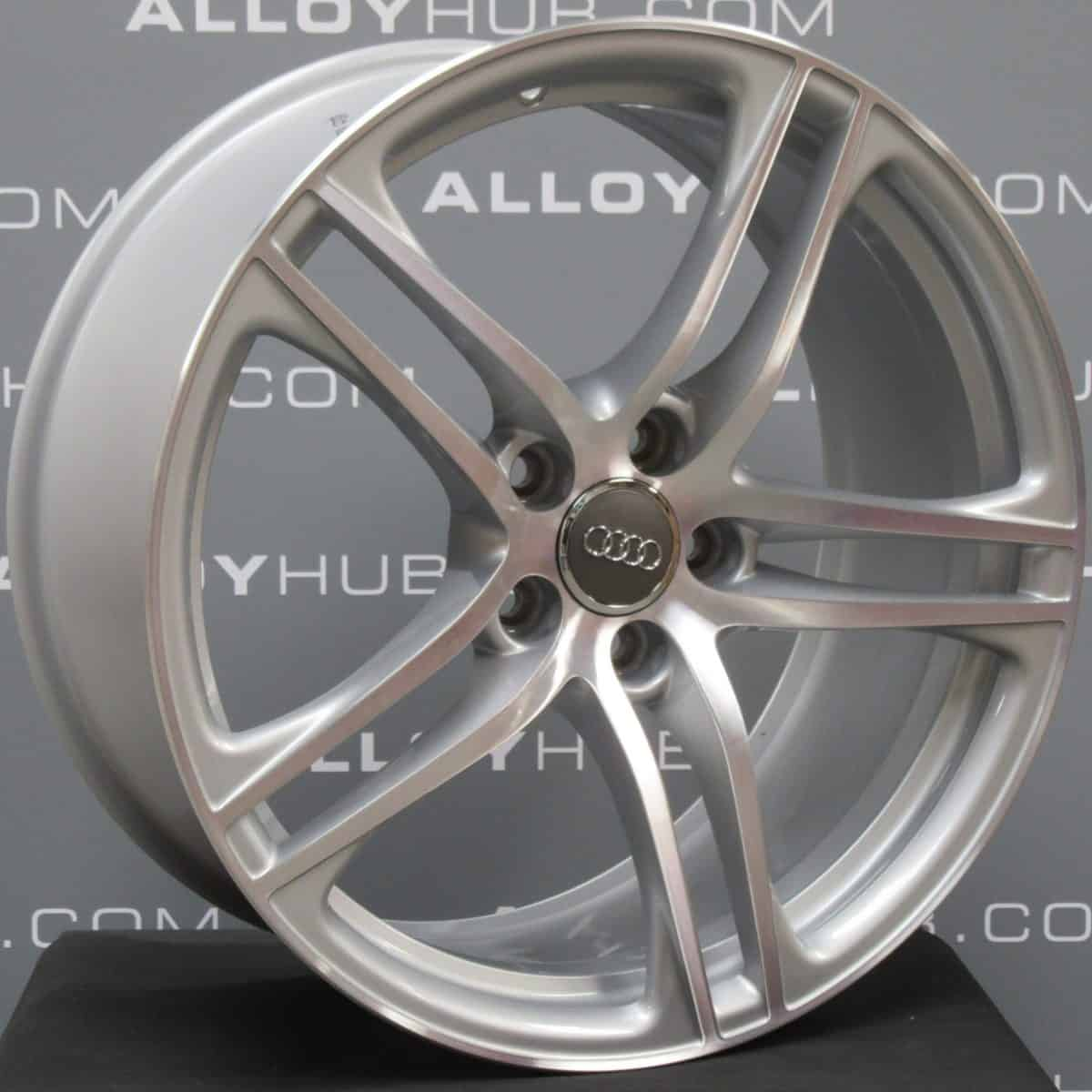 Genuine Audi R8 5 Twin Spoke 19″ Inch Alloy Wheels with Silver & Diamond Turned Finish 420 601 025 AG4 EE, 420 601 025 C