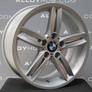 "Genuine BMW 1 Series E87 208M Sport 5 Twin Spoke 18"" Inch Alloy Wheels with Silver Finish 36118036939 36117839305"