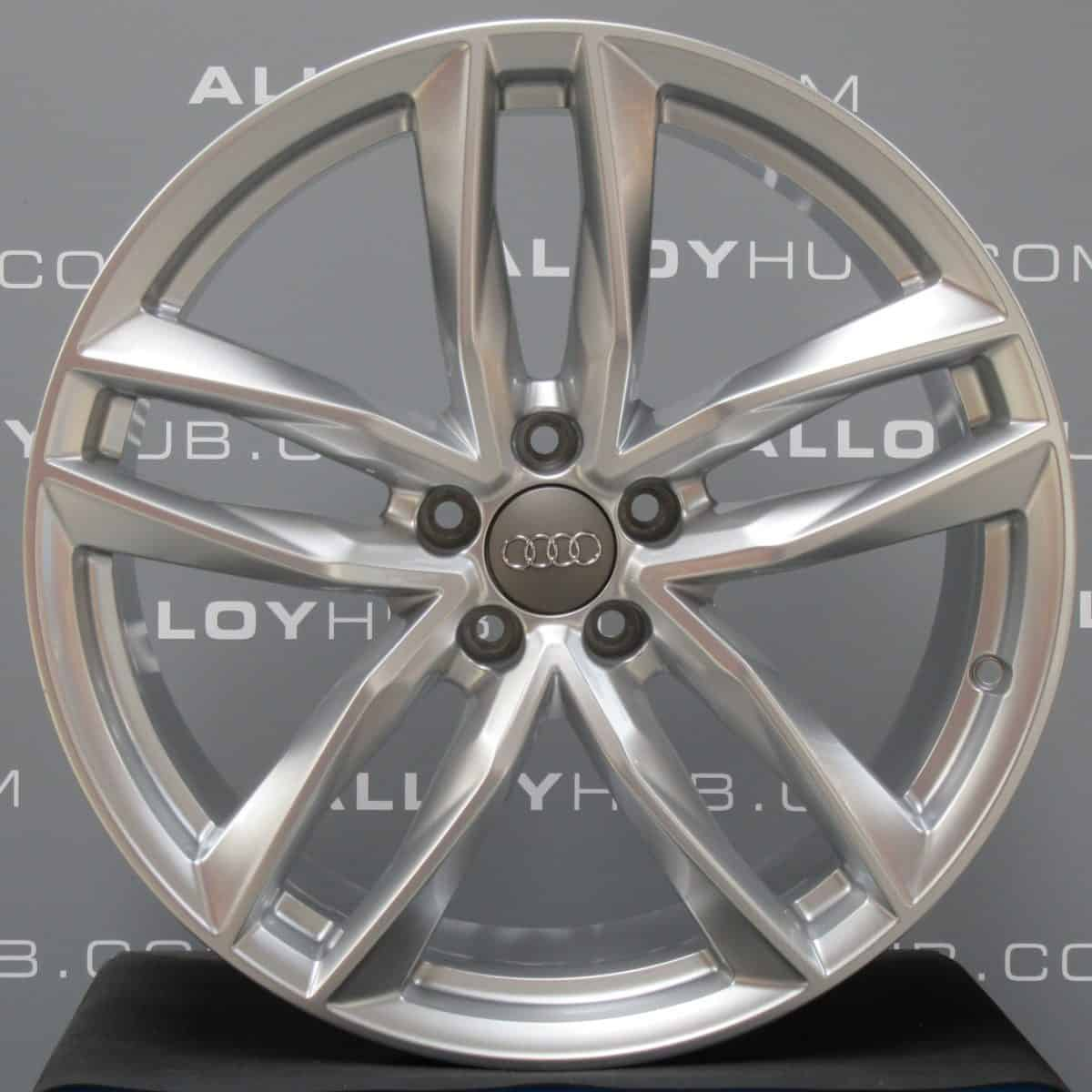 """Genuine Audi A6 S6 4G9 5 Twin Spoke 20"""" inch Alloy Wheels with Silver Finish 4G9 601 025 M"""