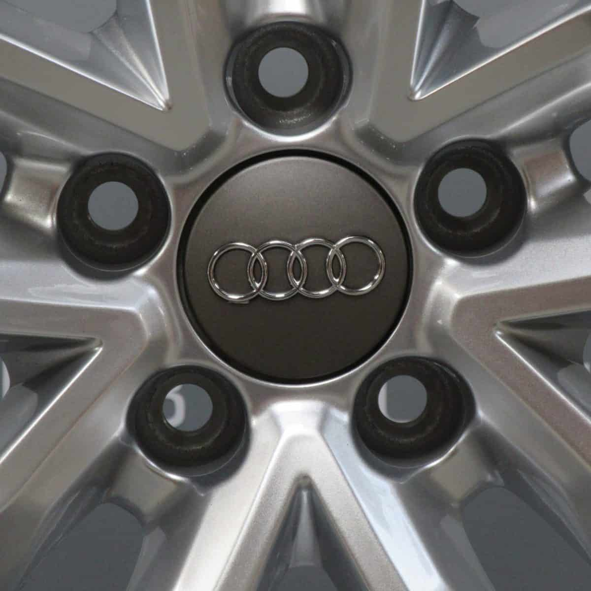 """Genuine Audi A6 RS6 5 Twin Spoke 20"""" Inch Alloy Wheels with Silver Finish 4G9 601 025 M"""