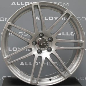 """Genuine Audi A7 A8 S7 RS7 4G8 4H 7 Double Spoke 20"""" Inch Alloy Wheels with Silver Finish 4H0 601 025 AB 4H0601025AA"""