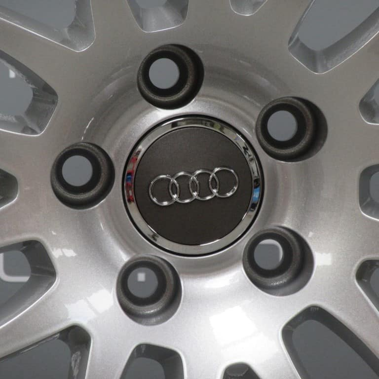 """Genuine Audi A7 A8 S7 RS7 7 Double Spoke 20"""" Inch Alloy Wheels with Silver Finish 4H0 601 025 AB 4H0601025AA"""