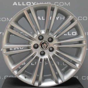 "Genuine Jaguar XJ X351 Kasuga 10 Split Spoke 20"" Inch Alloy Wheels with Sparkle Silver Finish AW93-1007-GA, AW93-1007-HA"