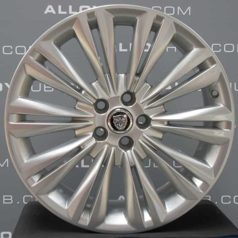 "Genuine Jaguar XF X250 Caravela 10 Split Spoke 19"" Inch Alloy Wheels with Sparkle Silver Finish C2P12613 C2P12614"