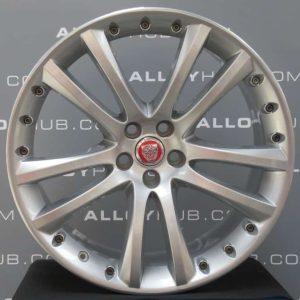 "Genuine Jaguar XK X150 Senta 5 Twin Spoke 20"" Inch Alloy Wheels with Silver Finish 6W83-1007-EC, 6W63-1007-FC"