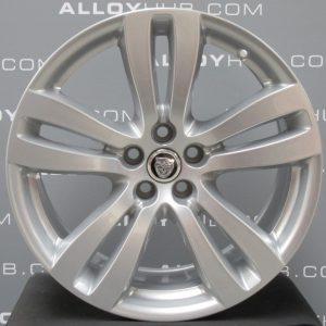 "Genuine Jaguar XJ X351 Tobia 5 Twin-Spoke 19"" Inch Alloy Wheels with Silver Finish BW9M-1007-KA, BW9M-1007-JA"