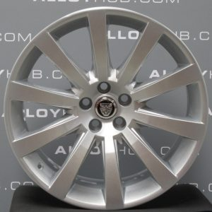 """Genuine Jaguar XJ X351 XK X150 Carelia 10 Spoke 19"""" Inch Alloy Wheels with Silver Finish 6W83-1007-PA 6W83-1007-RA"""