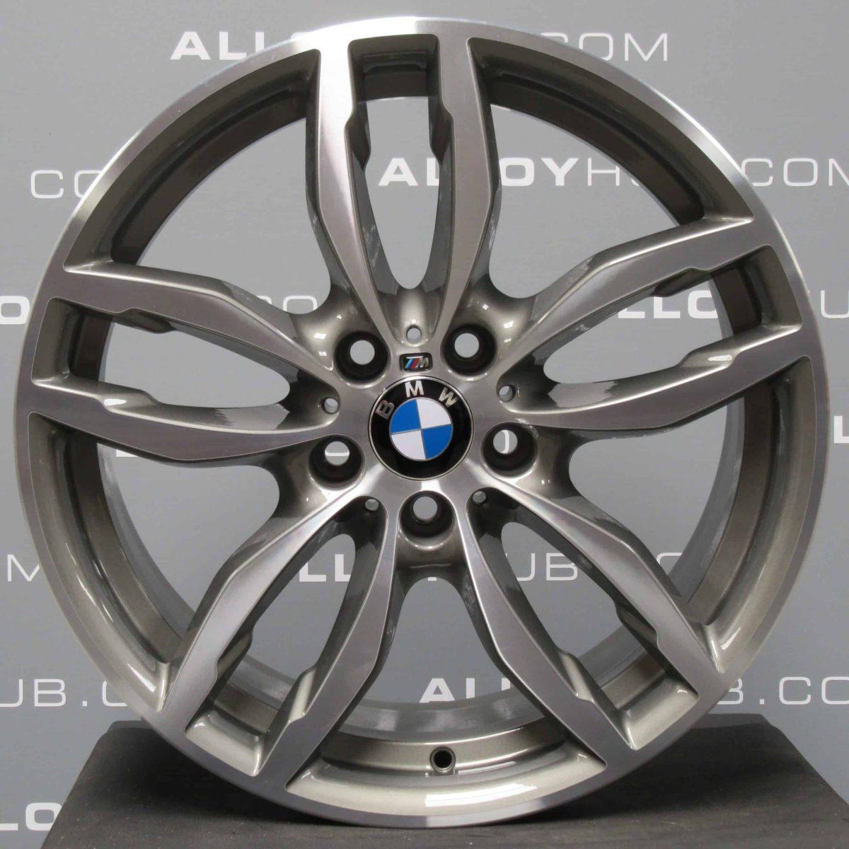 """Genuine BMW X3 X4 F25F26 Style 622M Sport 5 Twin Spoke 19"""" inch Alloy Wheels with Grey & Diamond Turned Finish 36117849661 36117849662"""