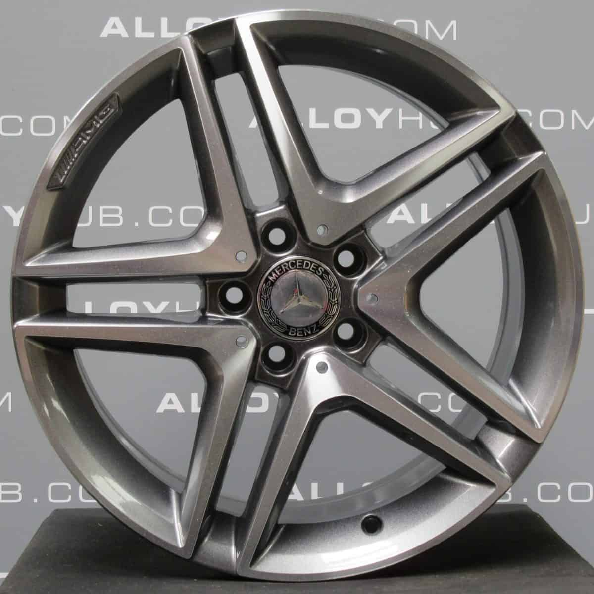 "Mercedes-Benz A/B Class W176 W246 18"" 5 Twin Spoke Grey/Polished Alloy Wheel"