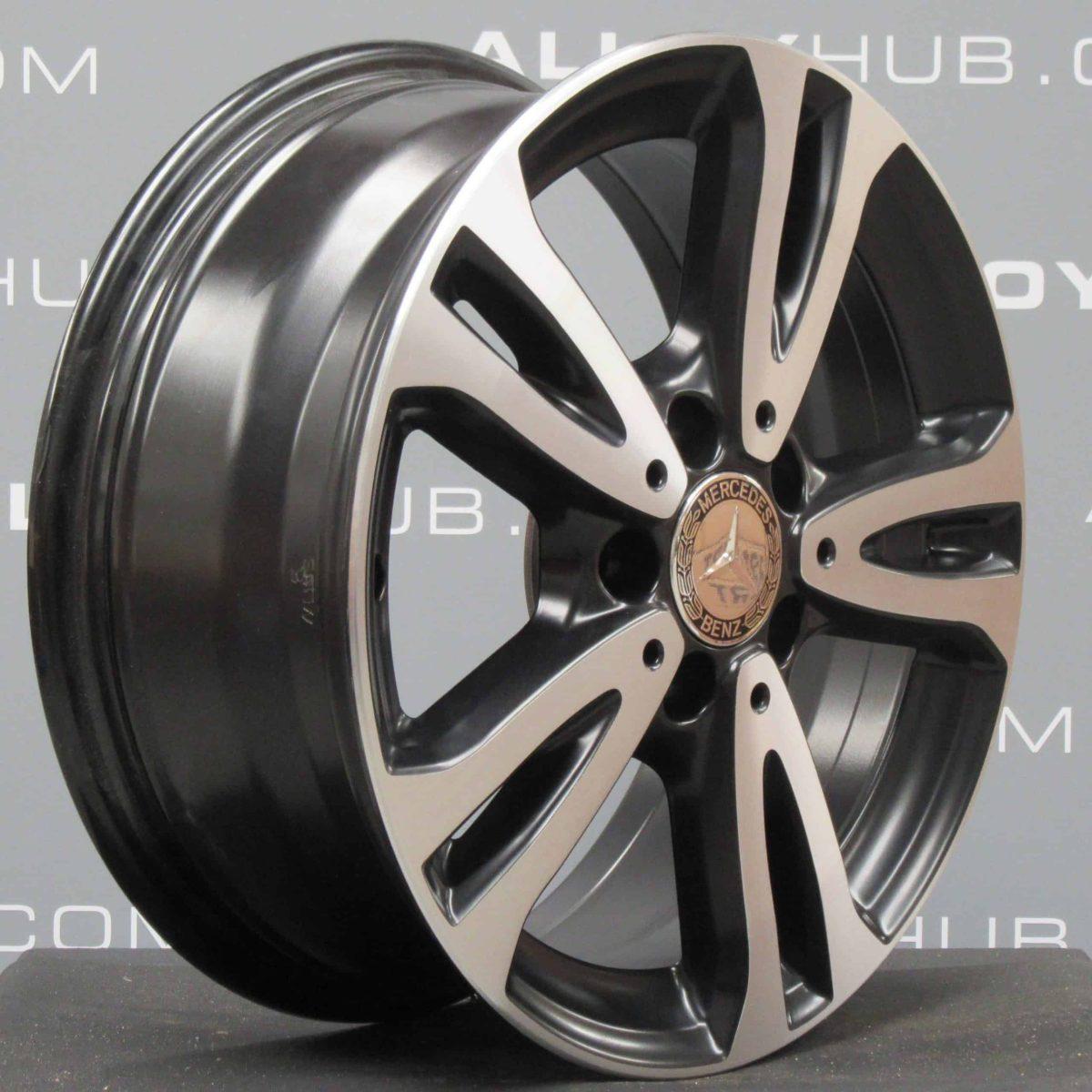 "MERCEDES-BENZ CLA 16"" 5 Twin Spoke Black/Polished Alloy Wheel"